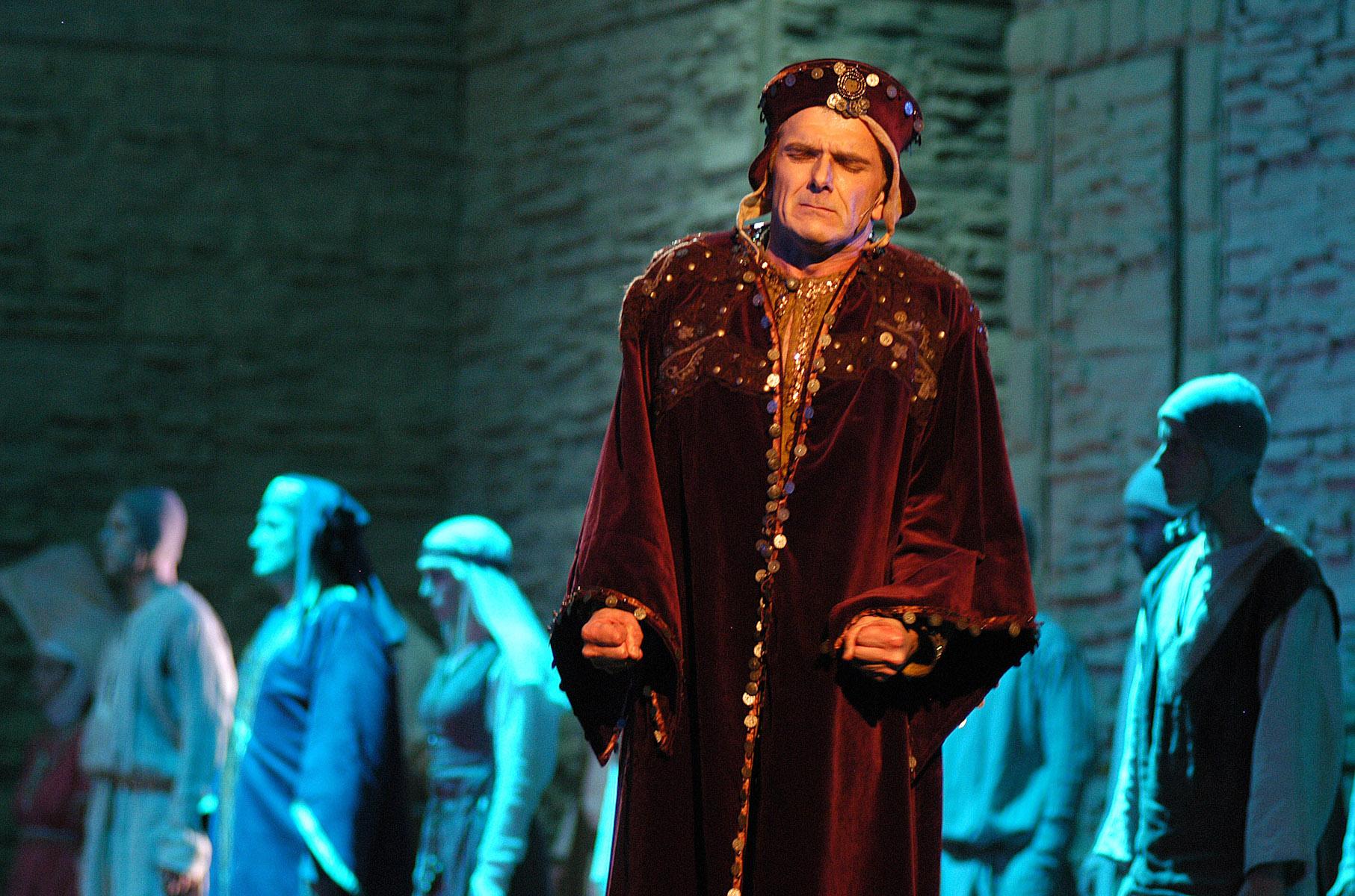 """Próba generalna przedstawienia """"Francesco"""" w Teatrze Muzycznym w Gdyni."""