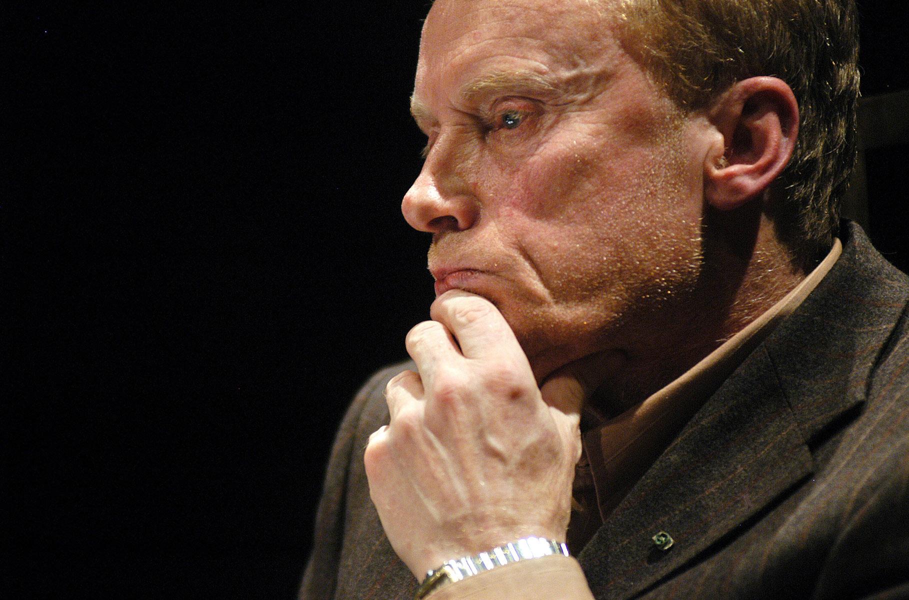 Aktor Daniel Olbrychski podczas debaty w ramach Areopagu Gdańskiego w Gdańsku.
